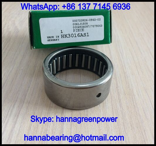 HK2512AS1 Needle Roller Bearing with Lubrication Hole 25x32x12mm
