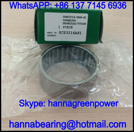 SCE1612AS1 Inch Needle Roller Bearing with Lubrication Hole 25.4x31.75x19.05mm