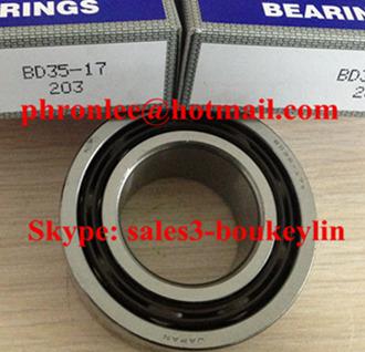 BD35-17a Angular Contact Ball Bearing 35x65x27mm