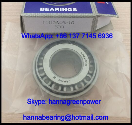 LM12649/LM12610 Automotive Tapered Roller Bearing 21.43x50.005x18.288mm