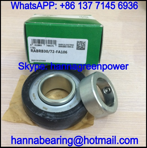 RABRB30/72-FA107 Insert Ball Bearing with Rubber Interliner 30x72.2x38.2mm