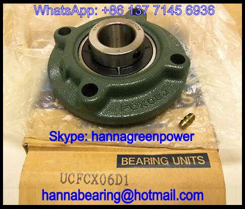UCFCX06D1 Four-Bolt Pillow Block Bearing 30x127x42.9mm