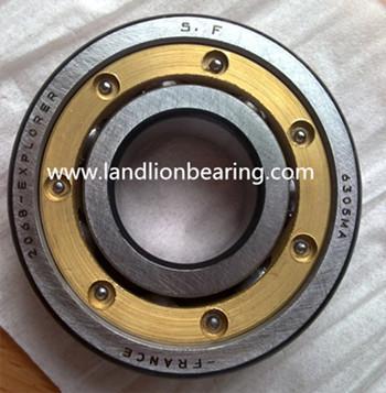 6308MA brass cage deep groove ball bearings 35*80*21