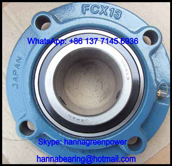 UCFCX17-55 Four-Bolt Pillow Block Bearing 87.313x260x96mm