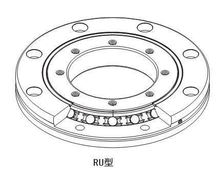 Cross roller bearing RU297XUUCC0P2BGXN