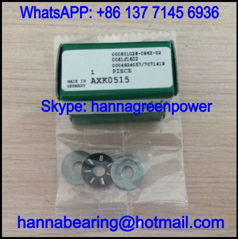 AXK0515TN Axial Needle Roller Bearing / Thrust Bearing 5*15*2mm