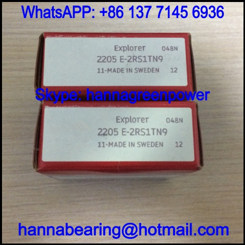 2205E-2RS1TN9 Double Row Self Aligning Ball Bearing 25x52x18mm
