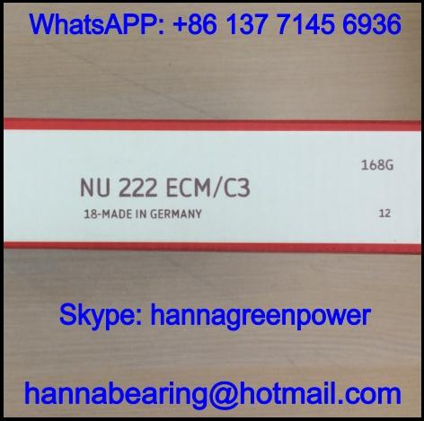NU222ECM/C3 Single Row Cylindrical Roller Bearing 110x200x38mm
