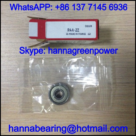 R4A-2RS1 Deep Groove Ball Bearing with Rubber Seal 6.35*19.05*7.142mm
