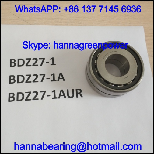BDZ27-1 Double Row Angular Contact Ball Bearing 27x63x23mm