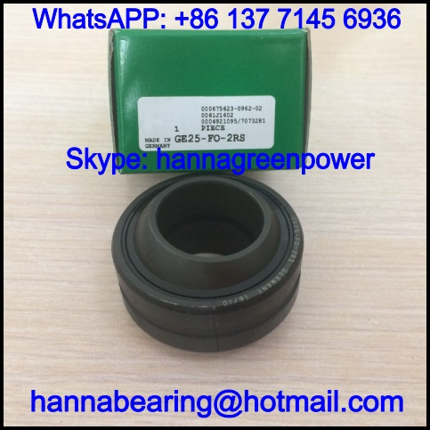 GE60-FO-2RS / GE60FO-2RS Spherical Plain Bearing 60x105x63mm