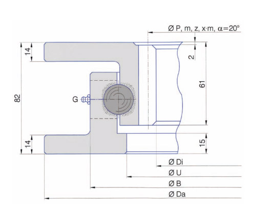 I.700.22.00.A-T Slewig ring bearing