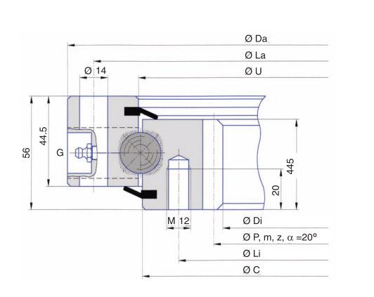 I.716.20.00.B slewing ring bearing