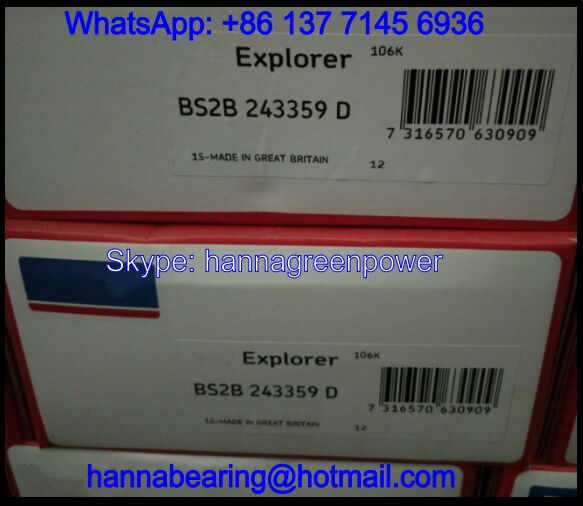 BS2B243359D Spherical Roller Bearing / Double Row Roller Bearing 90x150x72mm