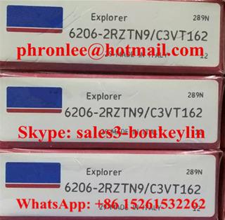 6206-2RZTN9/C3VT162 Deep Groove Ball Bearing 30x62x16mm
