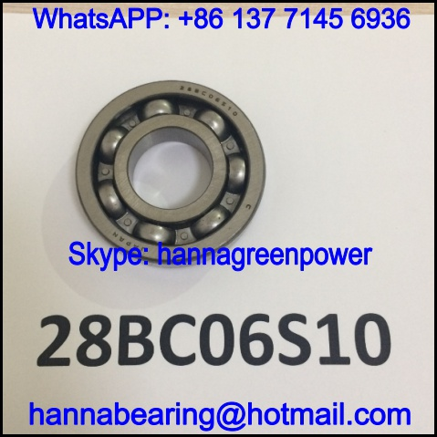 28BC06S10 Automobile Gearbox Bearing / Deep Groove Ball Bearing 28x64x15mm