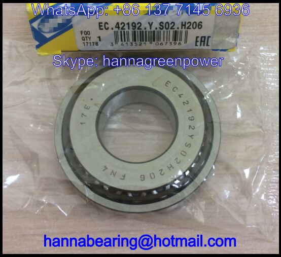 EC42192YS02H206 FN4 Taper Roller Bearing / Gearbox Bearing 25x55x13.75mm