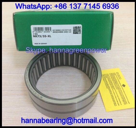 NK73/35-XL Needle Roller Bearing With Ribs 73x90x35mm