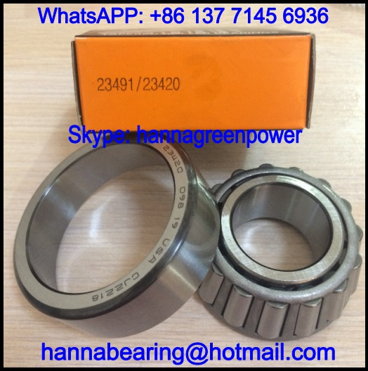 23420/23491 Single Row Tapered Roller Bearing 31.75*68.263*26.988mm