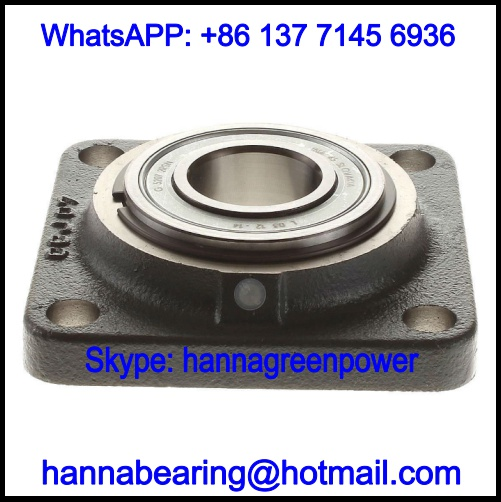 PCCJ40 Four-Bolt Flanged Pillow Block Bearing 40x130x38mm