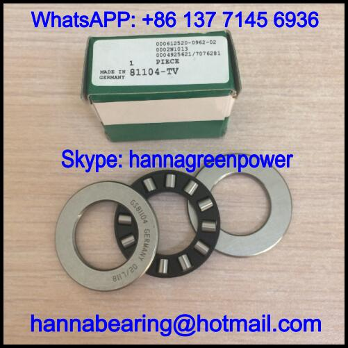 81104-TV / 81104TV Nylon Cage Thrust Roller Bearing 20x35x10mm