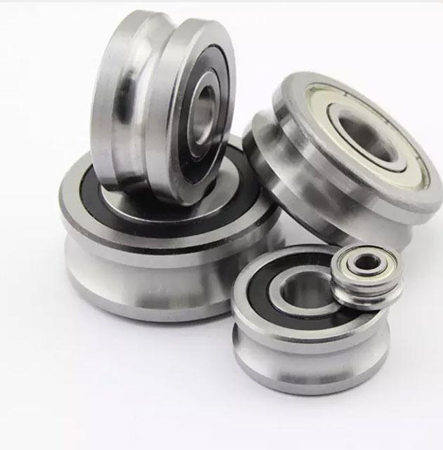 U Groove sealed LFR50/5-4KDD bearings 5x16x7 mm