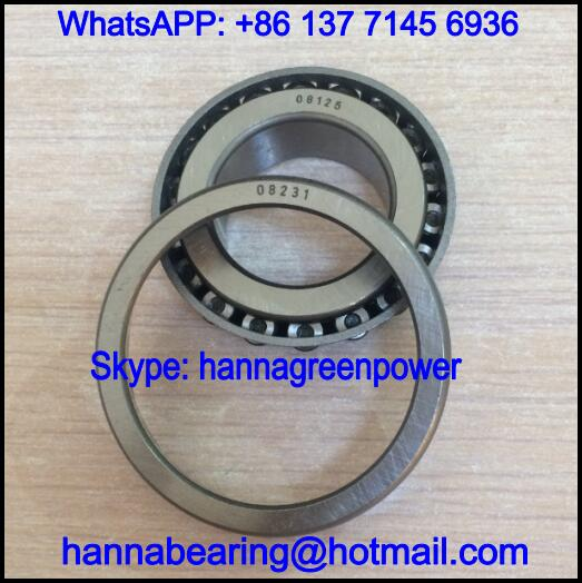 08125/231 Single Row Tapered Roller Bearing 31.75*58.738*14.684mm