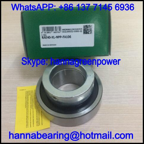 RAE40-NPP-B Spherical Outer Ring Insert Ball Bearing 40*80*43.8mm
