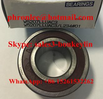 VXB Brand 3207-2RS Bearing Angular Contact Sealed 35x72x27 Type Sealed Double-Row Angular Contact Ball Bearing Inner Diameter 72mm 35mm Outer Diameter