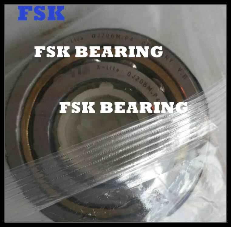 GCr15 Chrome Steel QJ 1026 N2MA Four Point Contact Bearing Brass Cage