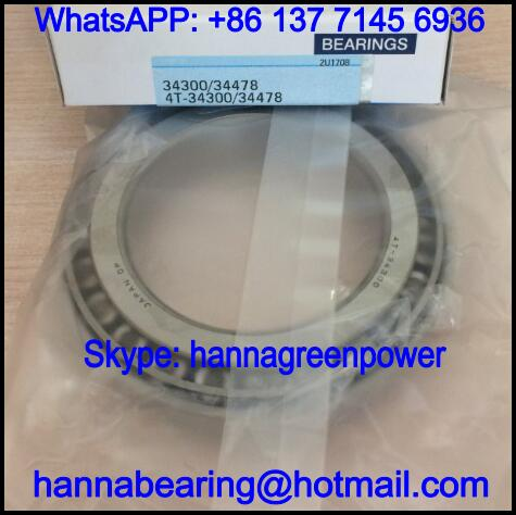 34300A/34492 Single Row Tapered Roller Bearing 76.2x125.095x24mm