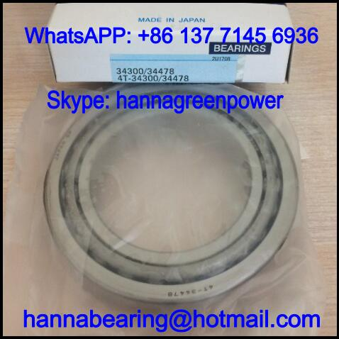 34300/34500 Single Row Tapered Roller Bearing 76.2x127x26.988mm