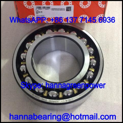 3220-M / 3220M Brass Cage Angular Contact Ball Bearing 100x180x60.3mm
