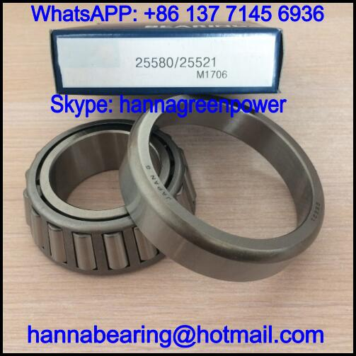 25521 Single Row Tapered Roller Bearing 44.45x83.058x23.813mm