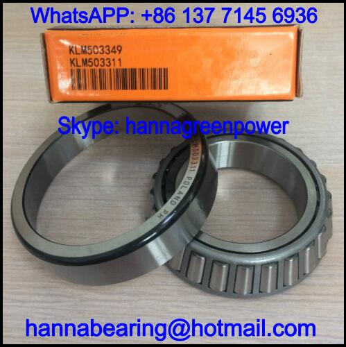 KLM503349/KLM503311 Single Row Tapered Roller Bearing 45.987x74.975x18mm