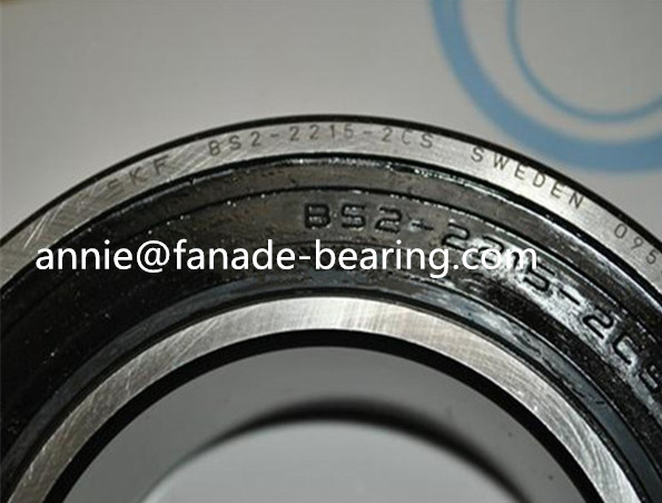 Rubber sealed Spherical roller bearing BS2-2309-2CS BS2-2309-2CS/VT143 45x100x42