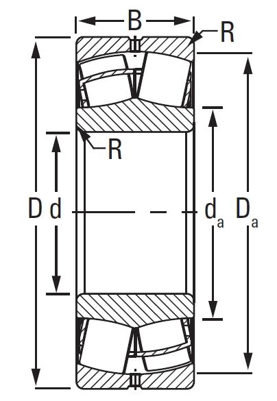 22217KEJW33C3, Spherical Roller Bearings - Steel Cage