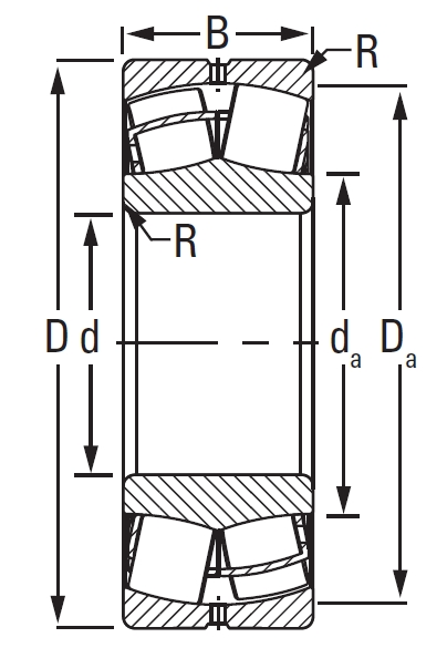 22318EJW33C3, Spherical Roller Bearings - Steel Cage