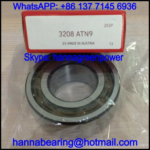 3208ATN9 / 3208 ATN9 Double Row Angular Contact Ball Bearing with Nylon Cage 40x80x30.2mm