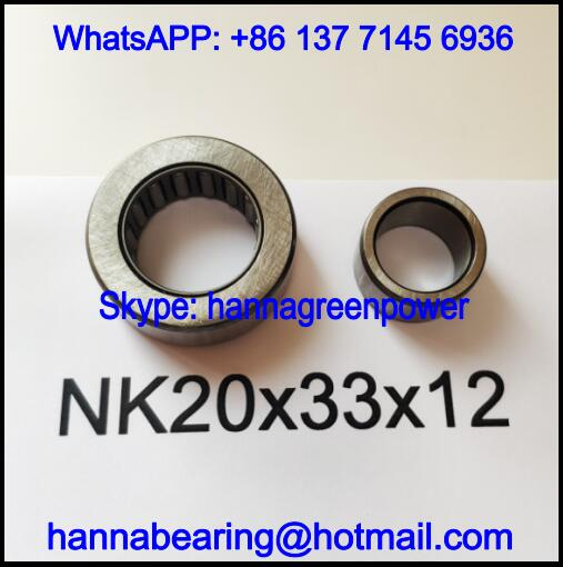 NK20x33x12 Automobile Bearing / Needle Roller Bearing 20*33*12mm