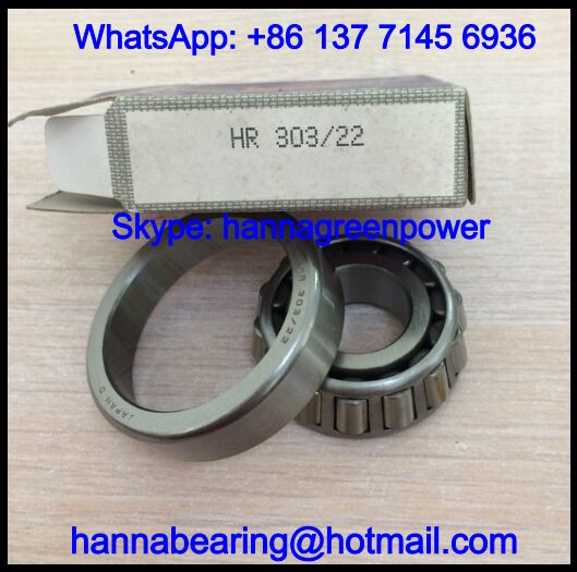 HR303/22 Single Row Tapered Roller Bearing 22x56x17.25mm