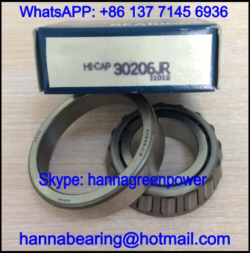 30206J-N / 30206JN Automotive Tapered Roller Bearing 30*62*17.25mm