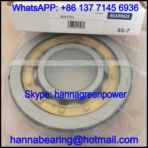 NJ417G1 Brass Cage Cylindrical Roller Bearing 85x210x52mm