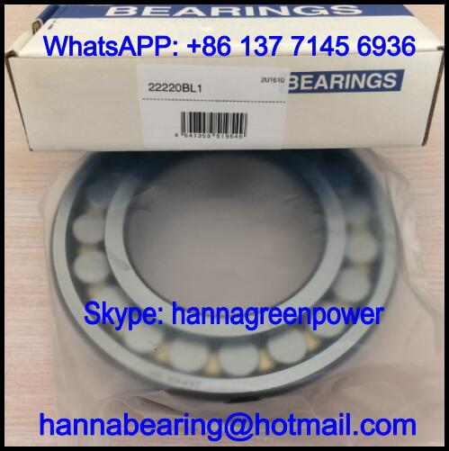 22220BL1 Brass Cage Spherical Roller Bearing 100x180x46mm