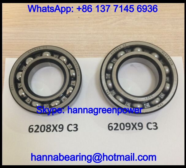 6208X9 Single Row Deep Groove Ball Bearing 40*80*18mm