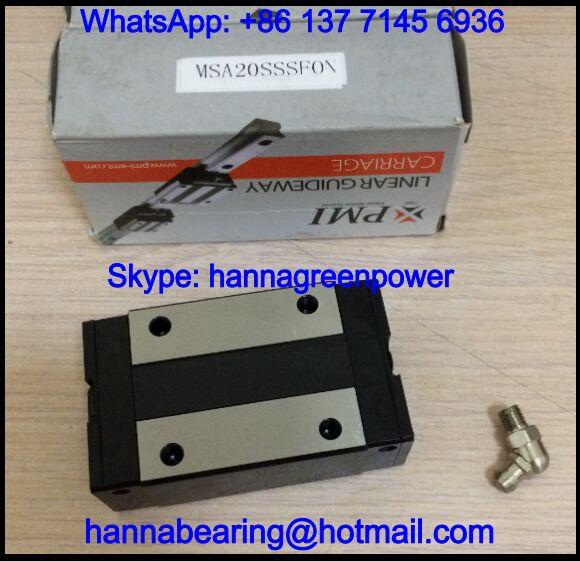 MSA20SSSF1N / MSA20SSSF1 Linear Guideway Block 25x44x72.9mm