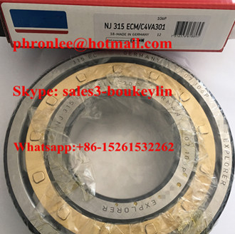 NJ 318 ECM/C4VA301 Cylindrical Roller Bearing 90x190x43mm