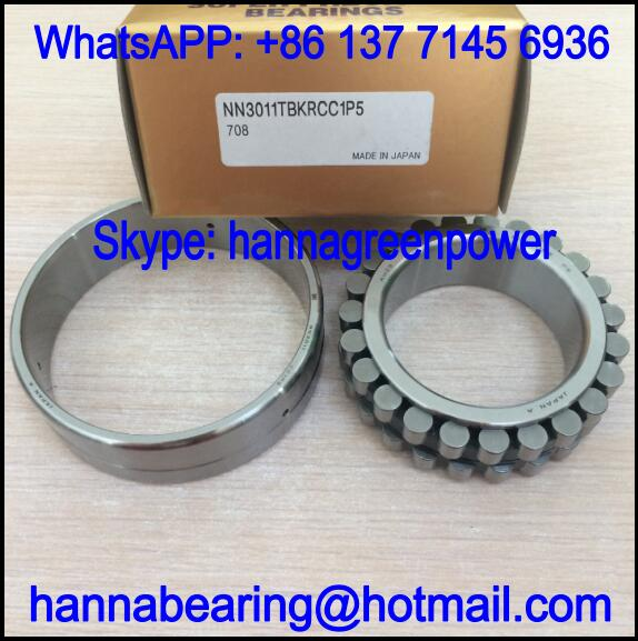 NN3011TBKRCC0P5 Double Row Cylindrical Roller Bearing 55x90x26mm