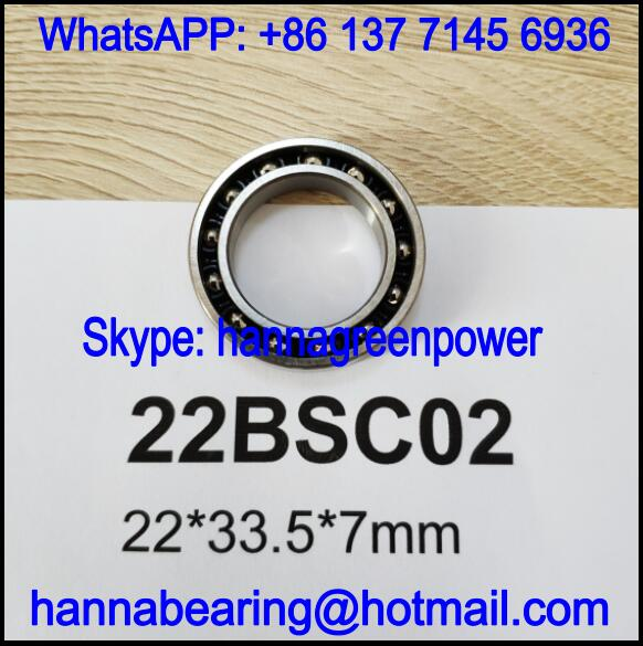 22BSC02 Automobile Bearing / Deep Groove Ball Bearing 22x33.5x7mm