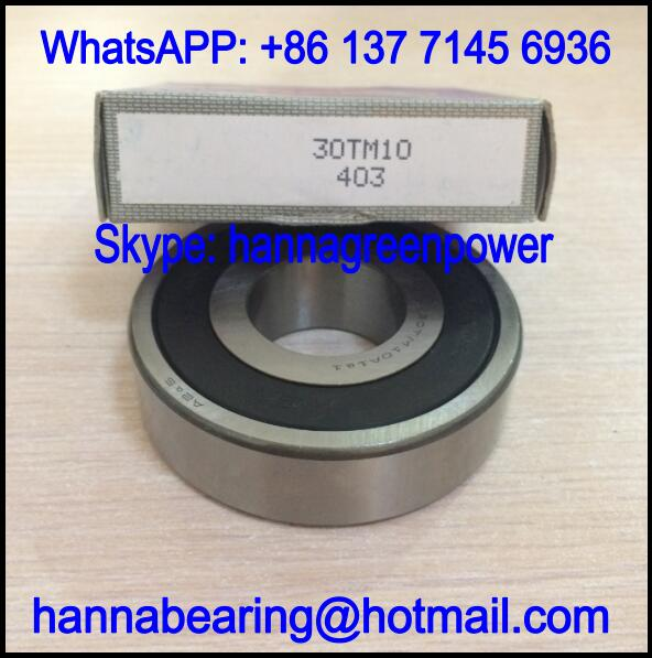 30TM10 Automobile Bearing / Deep Groove Ball Bearing 30x75x20mm